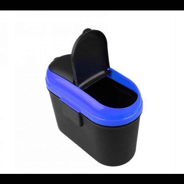 سلة مهملات بلاستيكية لأبواب السيارة - أزرق